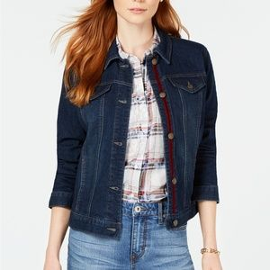 Charter Club Lace-Up Denim Jacket SZ-M